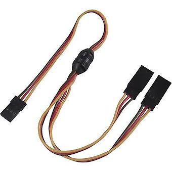 Servo Y cable [2 x conector JR - 1 x conector JR] 300 mm 0,14 mm² Modelcraft