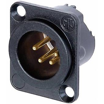 XLR connector Sleeve plug, straight pins Number of pins: 4 Black Neutrik NC4MD-LX-B 1 pc(s)