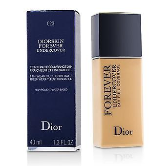 Christian Dior Diorskin Forever Undercover 24H Wear Full Coverage Water Based Foundation - # 023 Peach - 40ml/1.3oz