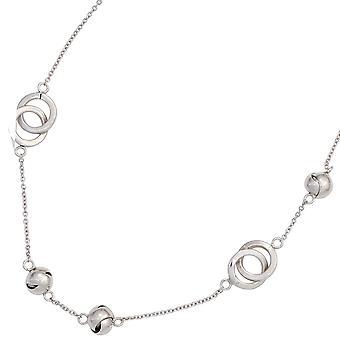 Kette silber Halskette Collier 925 Sterling Silber rhodiniert 50 cm Karabiner