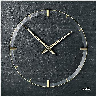 AMS 9516 wall clock quartz of slate natural slate slate watch golden