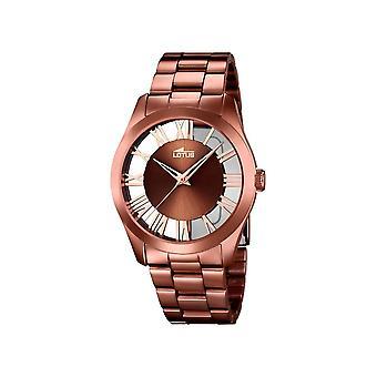 Lótus relógios senhoras assistir minimalista 18125-1