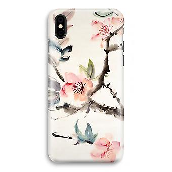 iPhone XS Full Print Case (Glossy) - Japenese flowers