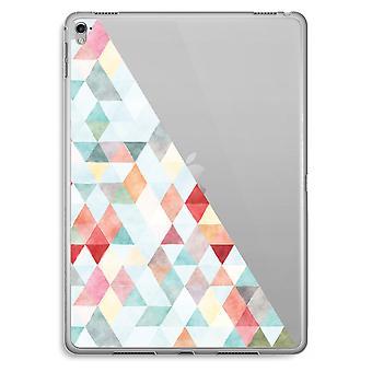iPad Pro 9,7 pulgadas caja transparente (suave) - triángulos de colores pastel