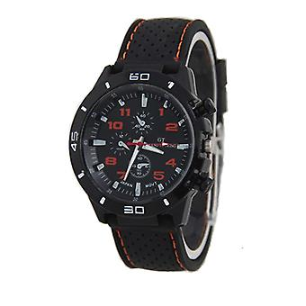 Men Analogue Sports GT Watch Black Orange Yellow