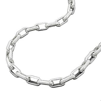 3, 4mm anchor chain with Chequer pattern Silver 925 chain 45 cm