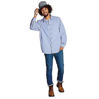 Jurk shirt blauw check shirt Oktoberfest jodelen kostuum voor mannen