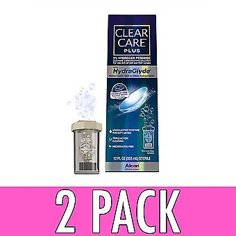Clear care plus hydraglyde cleaning and disinfecting solution, 12 oz