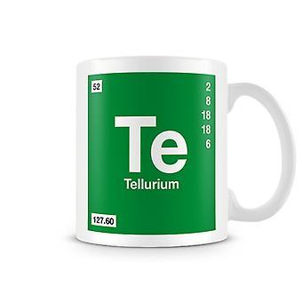 Scientific Printed Mug Featuring Element Symbol 052 Te - Tellrium
