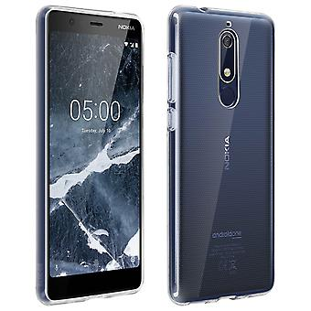 Silicone case, Glossy & matte back cover for Nokia 5.1 - Ultra clear