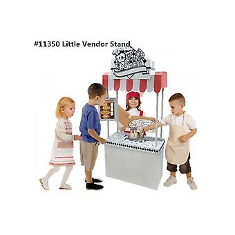 Cardboard Playhouse - Pretend Play Colour and Play Little Vendor Stand