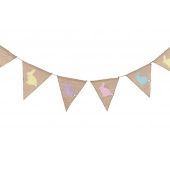 Country style Easter Bunny Bunting.