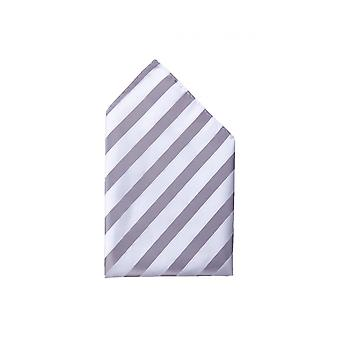 Handkerchief silvery white striped wedding Fabio Farini Web strips shine