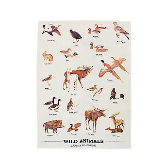 Wild Animals Tea Towel - Ecologie Range by Gift Republic