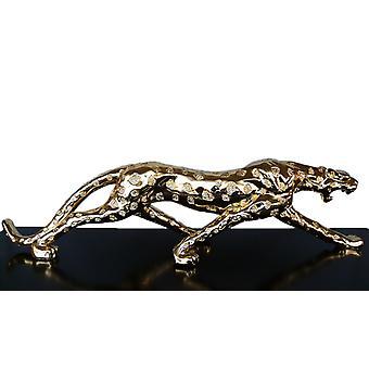 Leopard in gold, the sculpture 94x20x15 cm