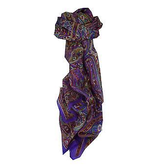 Maulbeere traditionellen langen Seidenschal Diya violett von Pashmina & Seide