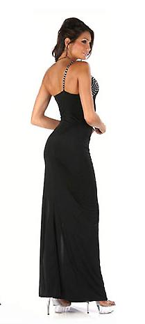 Waooh - Fashion - long evening dress with Rhinestone