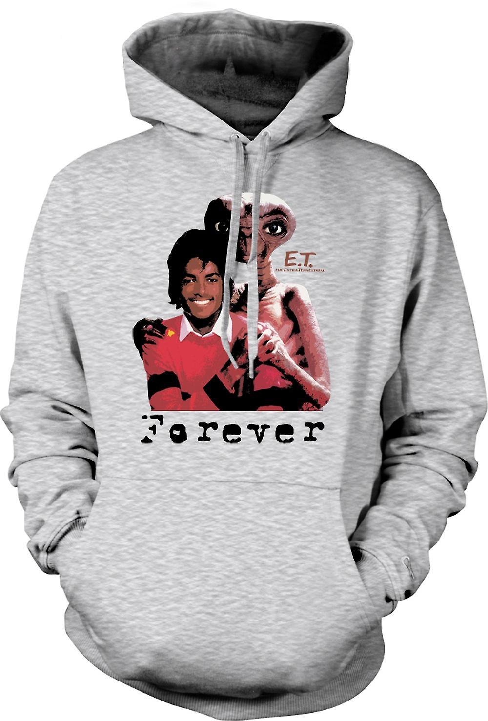 Mens Hoodie - Et Michael Jackson - Alien per sempre