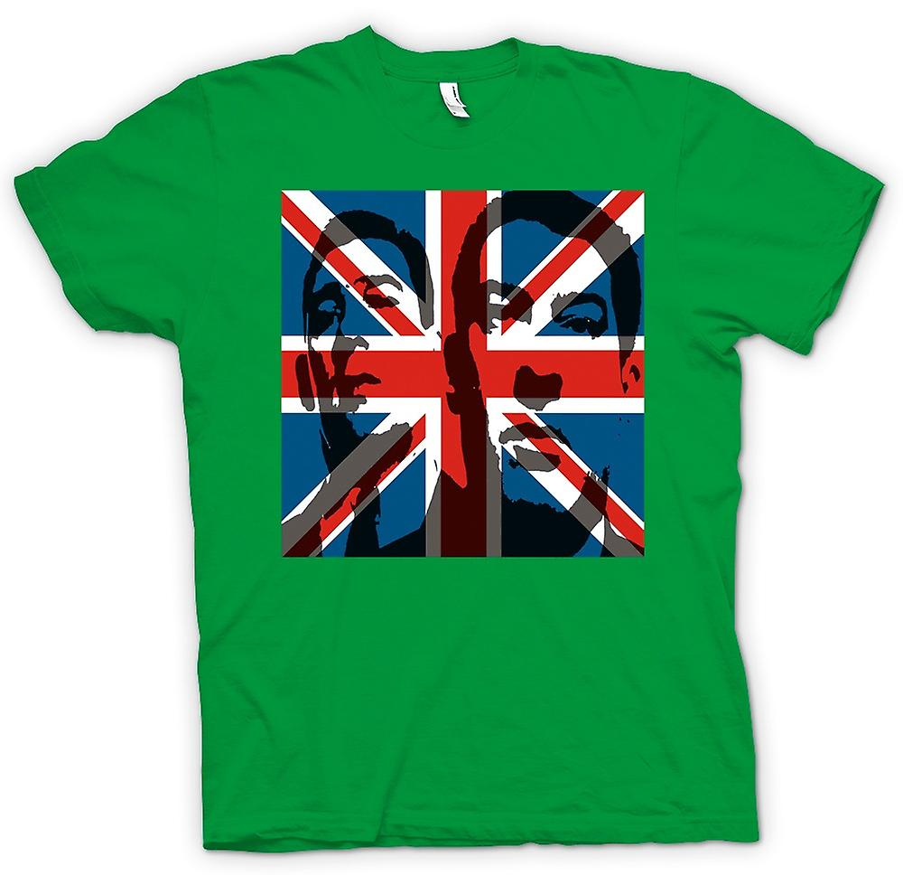 Hommes T-shirt - L'Union Jack Krays - Gangster