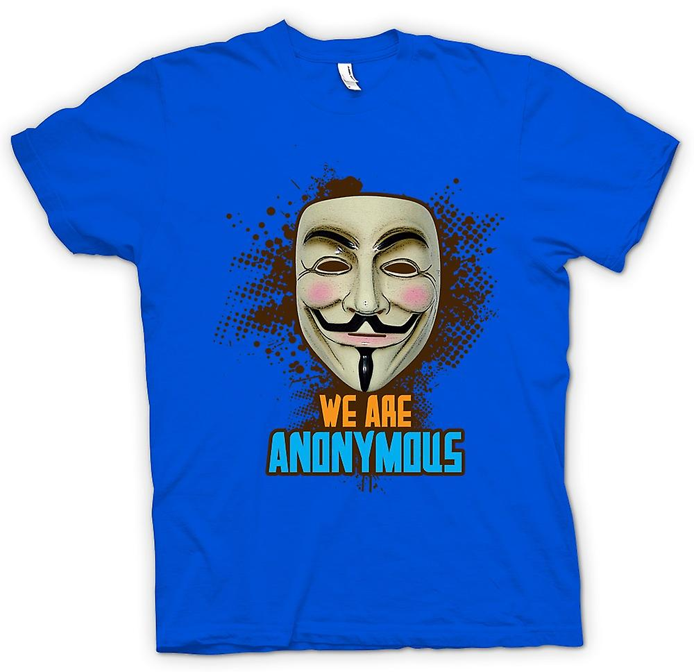 Mens T-shirt - V For Vendetta Anonymous