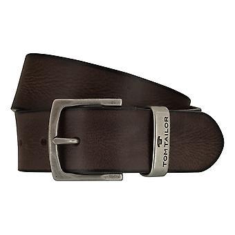 TOM TAILOR belt leather belts men's belts jeans belt Brown 7757