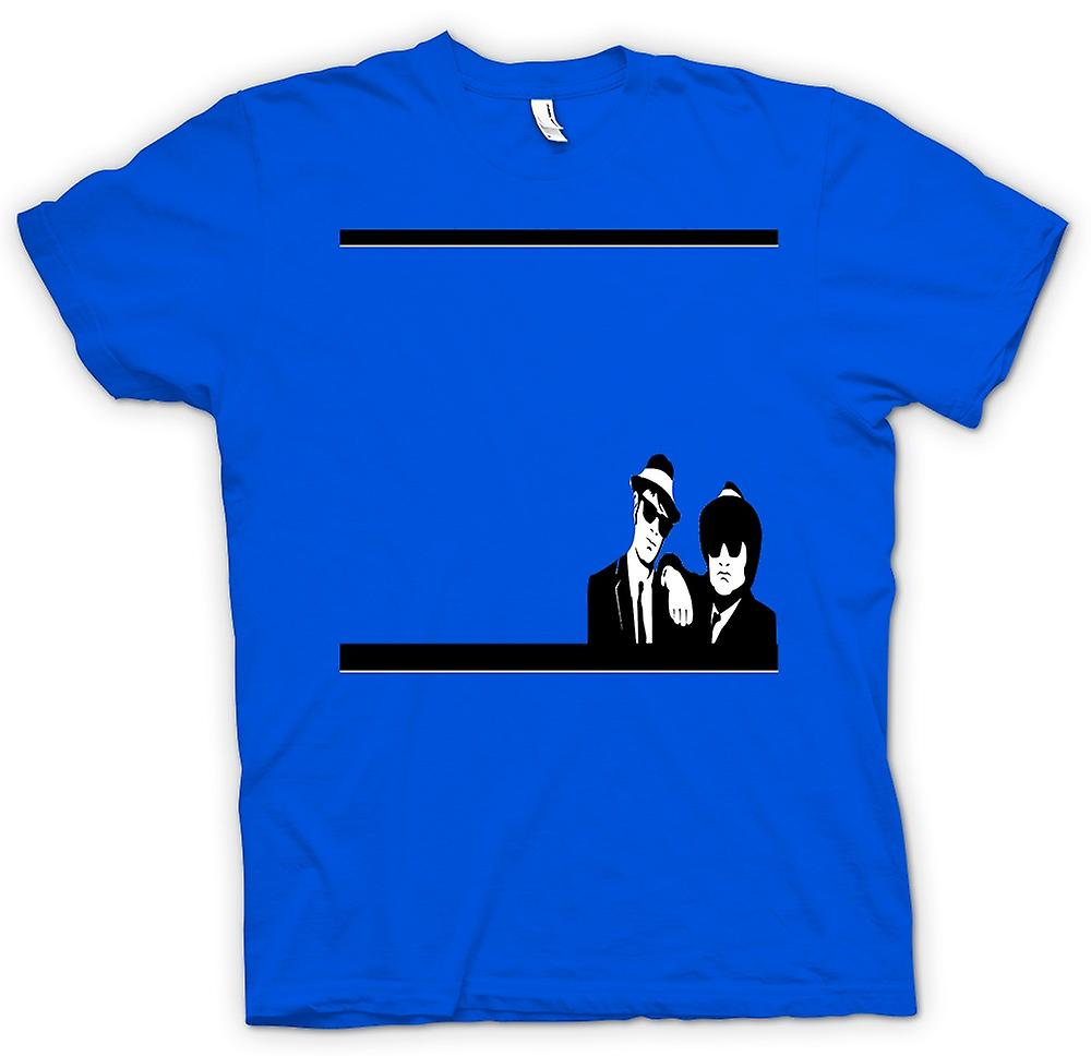Hommes T-shirt - Blues Brothers Black & White - Film