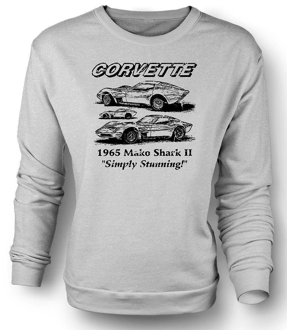 Felpa Mens Corvette Mako Shark II - auto d'epoca