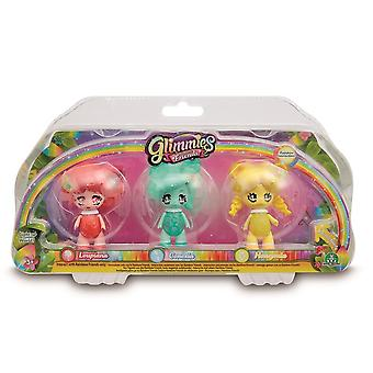Glimmies Kids Rainbow Friends Triple Pack - Designs may vary