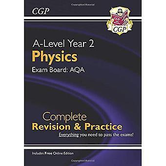 Nouveau niveau physique pour 2018: AQA année 2 révision complète & pratique avec l'édition en ligne