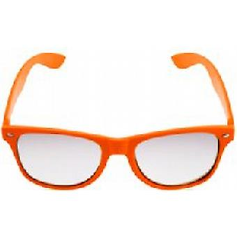 Orange Neon Clear Lense Wayfarer Glasses
