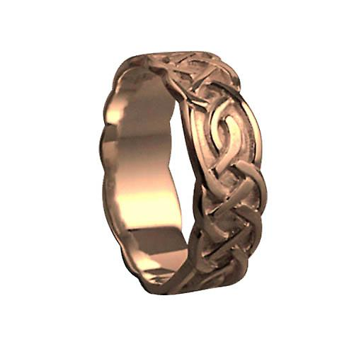 9ct Rose Gold 6mm Celtic Wedding Ring Size P