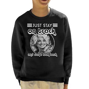 Dolly Parton Bleib auf Track und Dont Look wieder blauer Rauch Songtext Kind Sweatshirt