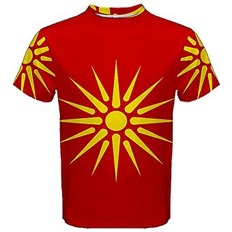Old Republic of Macedonia Flag Sublimated Sports Jersey-Kids