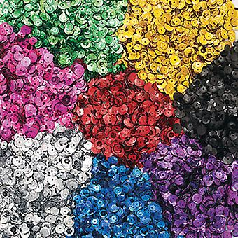 Assorted Bulk Selection of Cup Sequins for Kids Crafts - 600g