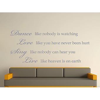 Danse comme personne observe Art Wall Sticker - Argent