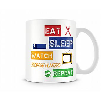Eat, Sleep, Watch Storage Hunters, Repeat Printed Mug