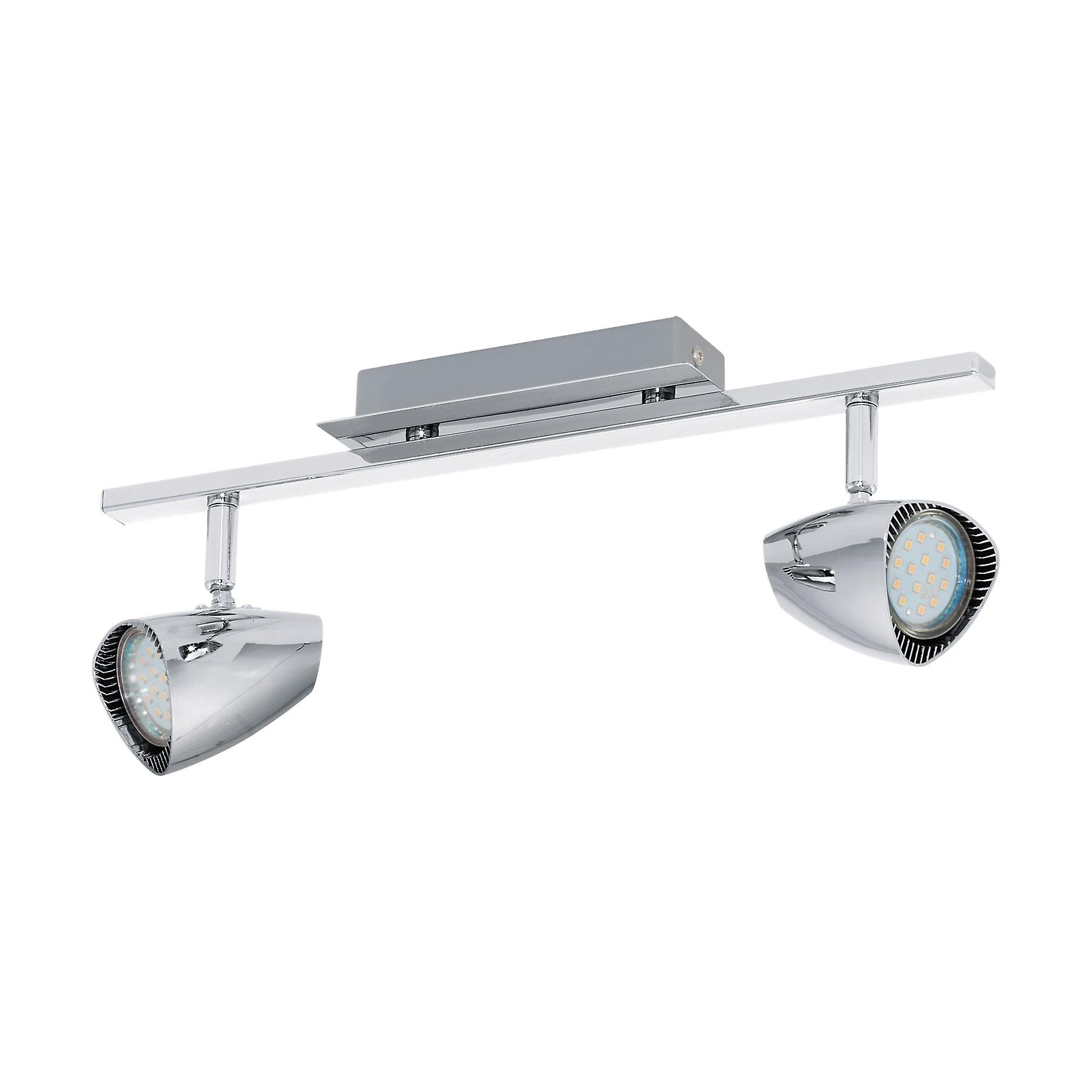 Eglo - Corbera Chrome Retro Twin LED Spot lumière EG93673