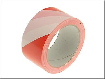 Faithfull Hazard Warning Safety Tape 50mm x 33m Red & White