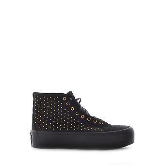 Vans Black Fabric Hi Top Sneakers