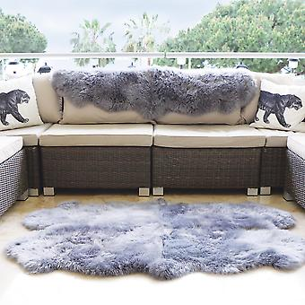 Genuine Sheepskin Rugs In Grey