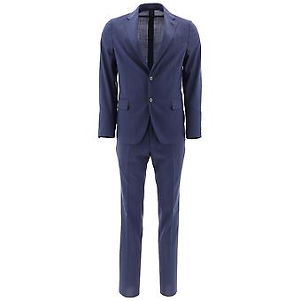 Lardini Blue Wool Suit