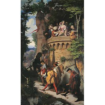 Rose, eller The Artist's Journey, Moritz von Schwind, 60x36cm