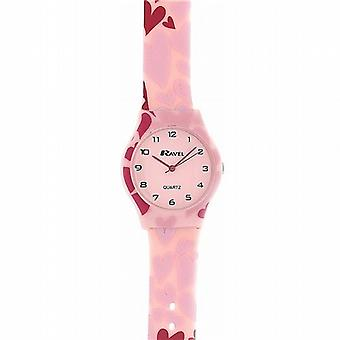 Ravel Herzen Rosa Zifferblatt Rosa Armband Girls lässig Watch R1532.03