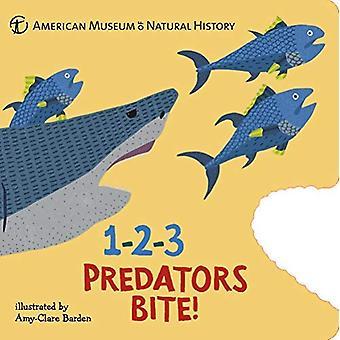 1-2-3 prédateurs mordre!: un livre d'inventaire animal