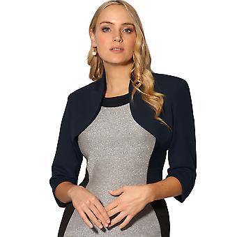 KRISP  Womens Tailored Shrug 3/4 Sleeve Cropped Bolero Top Party Blazer Jacket Coat