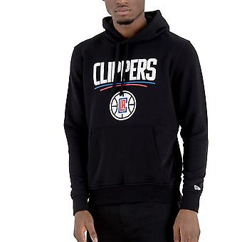 New Era Fleece Hoody-NBA Los Angeles Clippers black