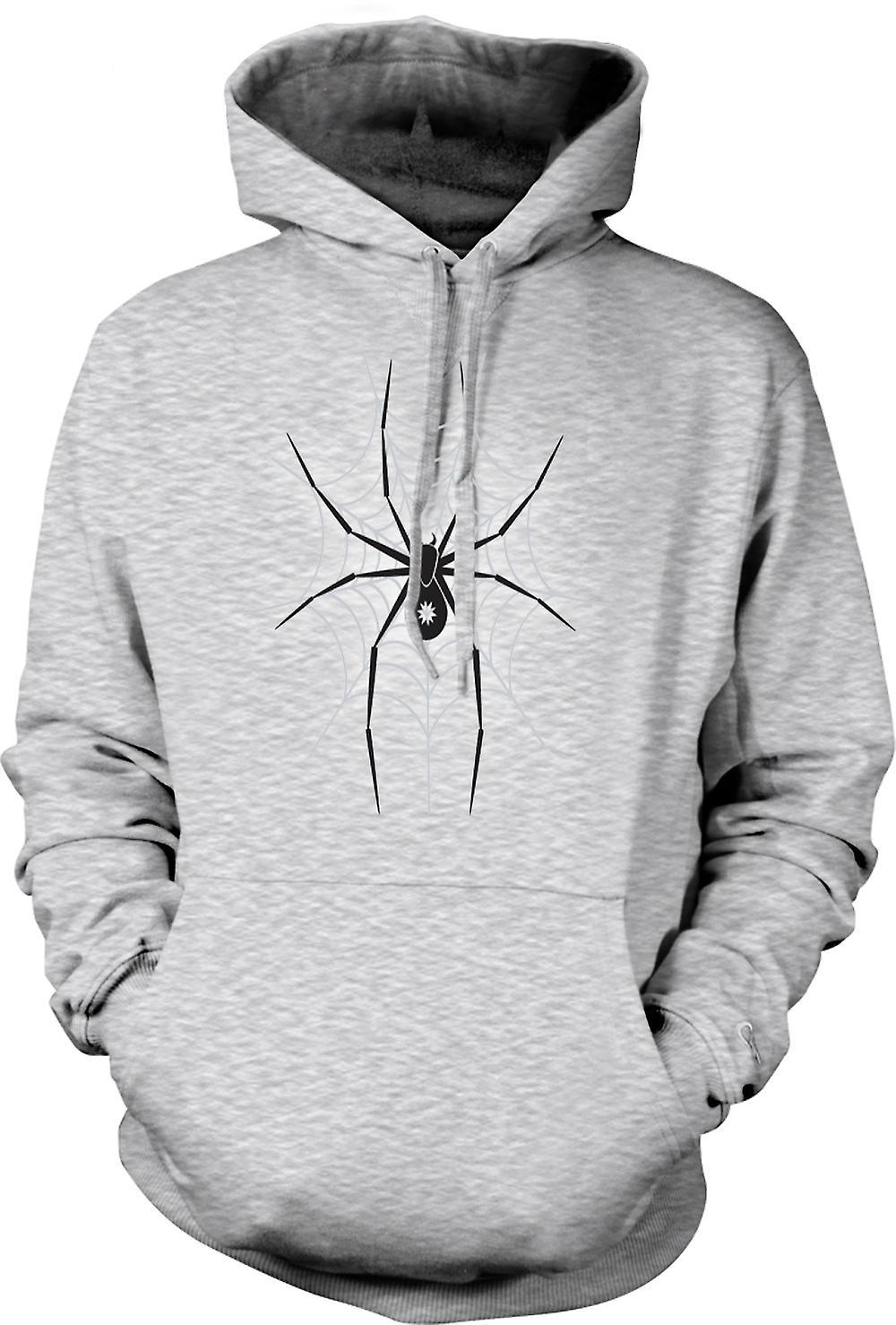Mens Hoodie - Arachnid Love  Widow