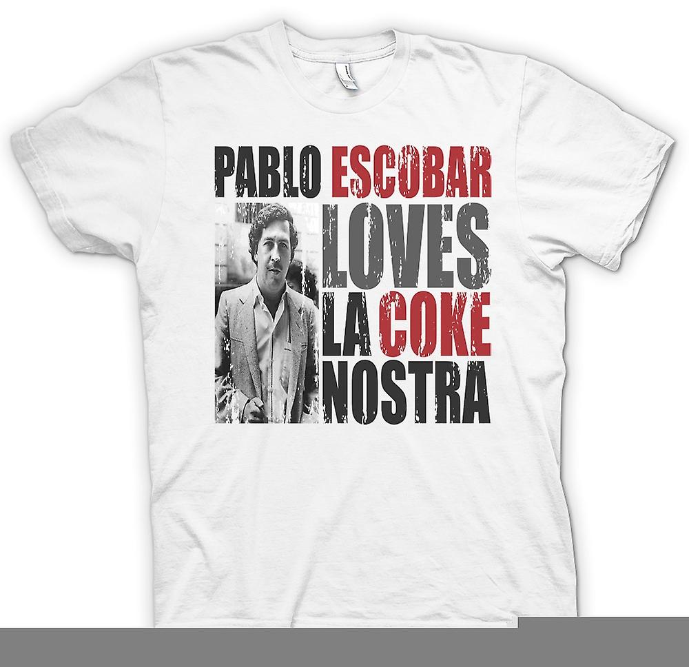 Womens T-shirt-Pablo Escobar liebt Coke La Nostra