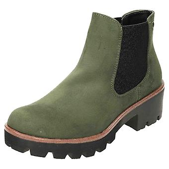 Rieker Chunky Chelsea Suede Ankle Boots 99284-54