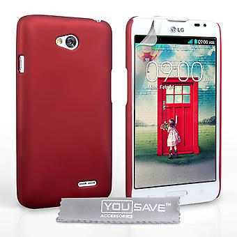 YouSave Accessories LG L90 Hard Hybrid Case - Red